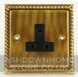 Monarch Roped Antique Bronze 2 & 5 Amp Plug Sockets